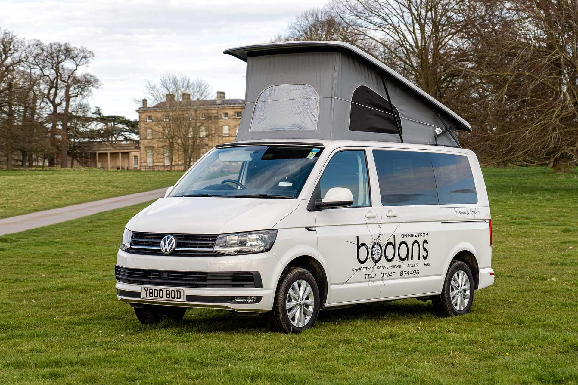 Hire a VW Campervan from Bodans Camper Rental