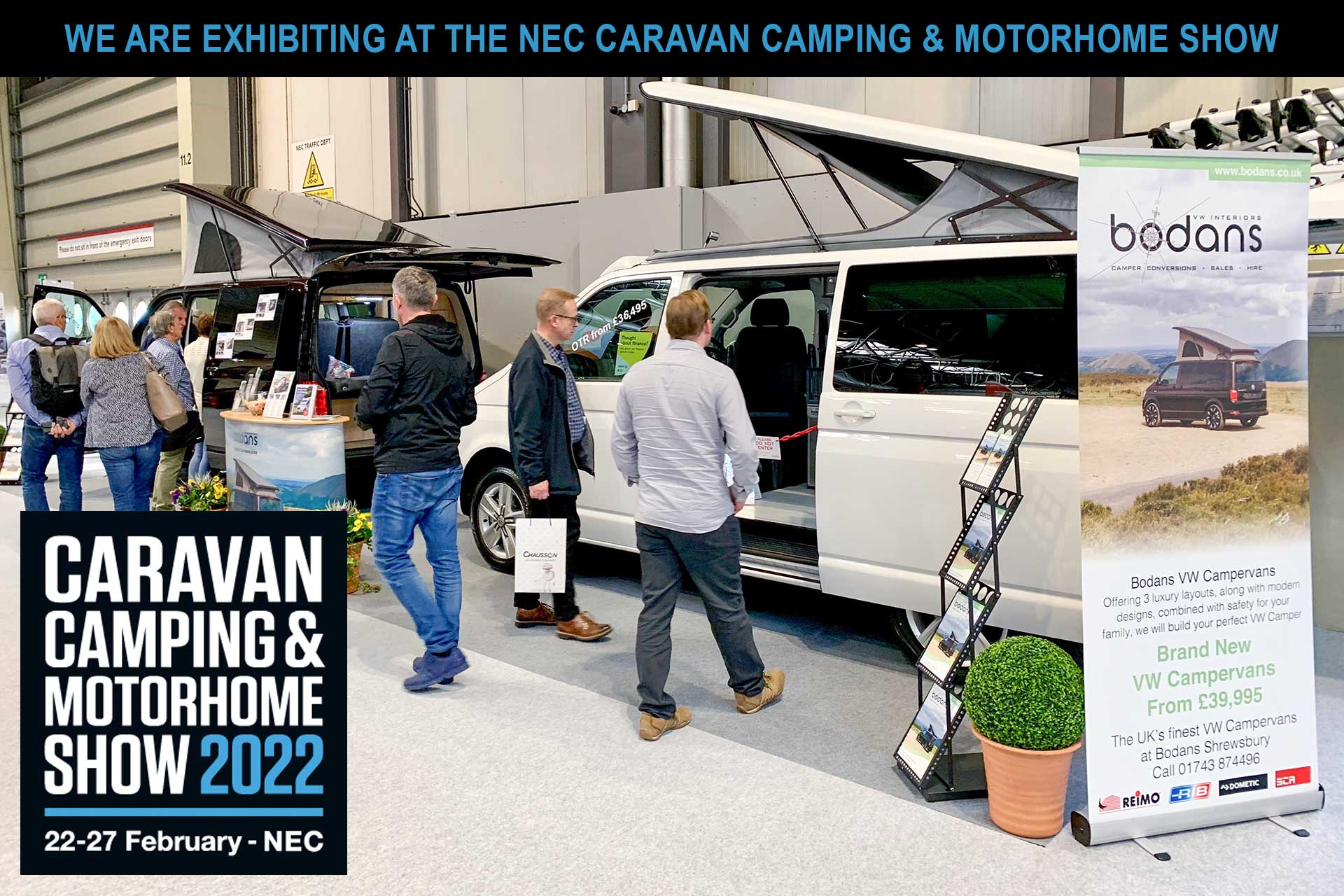 Bodans Exhibiting at the NEC Caravan and Motorhome Show